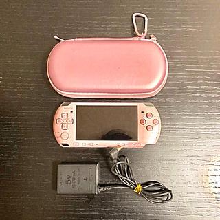 プレイステーションポータブル(PlayStation Portable)のPSP 3000 美品 ブロッサムピンク(携帯用ゲーム本体)