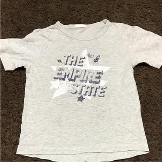 ジーユー(GU)の男児Tシャツ130グレー送料無料(Tシャツ/カットソー)
