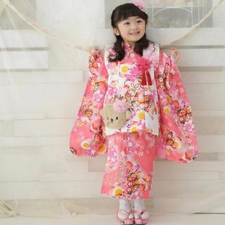 ☆美品☆ 京都瑠璃雛菊 七五三 被布 着物 セット 女の子 3歳(和服/着物)
