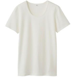 MUJI (無印良品) - オーガニックコットンストレッチクルーネック半袖Tシャツ