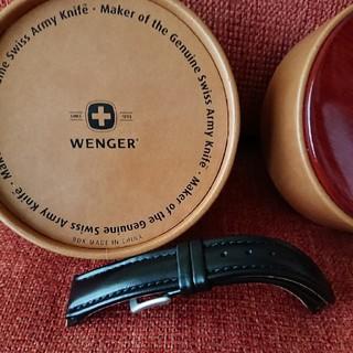 ウェンガー(Wenger)のお値下げしました!Wenger 時計 革ベルト 黒 19mm(レザーベルト)