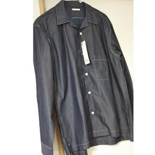 GU - GU メンズ S長袖 カジュアルなシャツ ビッグシルエットでかわいい