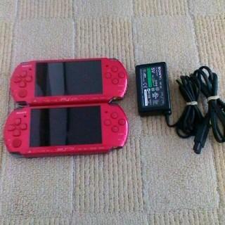 プレイステーションポータブル(PlayStation Portable)のpsp3000 二台(携帯用ゲーム本体)