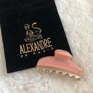 アレクサンドルドゥパリ(Alexandre de Paris)のアレクサンドルドゥパリ ヴァンドームクリップ サーモンピンク 7.5cm(バレッタ/ヘアクリップ)