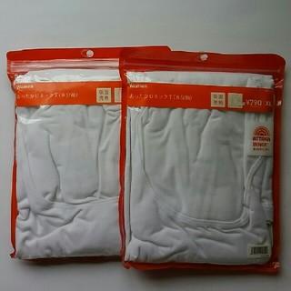 ジーユー(GU)のGU WomanあったかUネックT(8分袖)XL 2枚組(アンダーシャツ/防寒インナー)