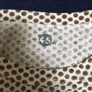 フォーティファイブアール(45R)の新品タグ付き 45R レトロ柄 カットソー size2(カットソー(半袖/袖なし))