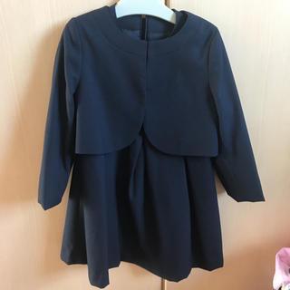 ジーユー(GU)のネイビージャケットセットワンピース(ドレス/フォーマル)