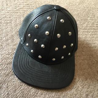 ジーユー(GU)のGU スタッズ付きキャップ 帽子(キャップ)