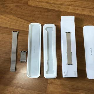 アップルウォッチ(Apple Watch)のApple Watch 42/44mm 用交換バンド ストーンレザーループ M(レザーベルト)
