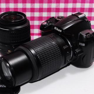 ニコン(Nikon)の❤️Wi-Fi対応❤️Nikon D5000 大迫力のダブルズームキット♪♪(デジタル一眼)