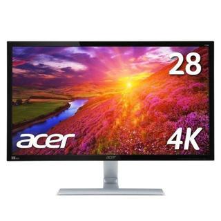 エイサー(Acer)のAcer4KモニターディスプレイRT280K 28インチ ほぼ新品(ディスプレイ)