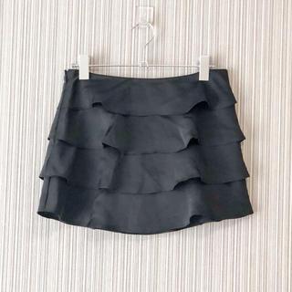 マーキュリーデュオ(MERCURYDUO)のマーキュリーデュオ ティアード スカート 黒 ブラック フリル パーティー(ミニスカート)