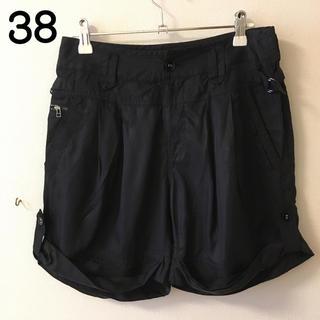 ジェットレーベル(JET LABEL)の309)38美品ジェットレーベルJetLabel黒ショートパンツ(ショートパンツ)