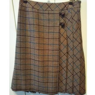 ザスコッチハウス(THE SCOTCH HOUSE)のスコッチハウス ウールチェックスカート(ひざ丈スカート)