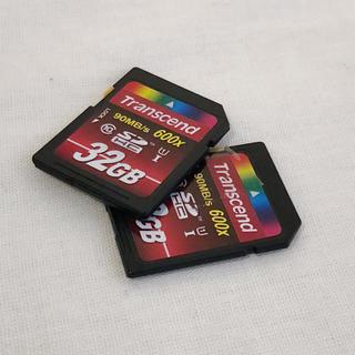 トランセンド(Transcend)の【transcend】トランセンド 32GB 中古2枚セット(その他)