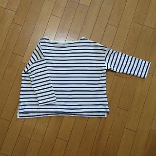 ムジルシリョウヒン(MUJI (無印良品))の無印良品 ボーダーカットソー サイズM(Tシャツ(長袖/七分))