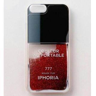 アイフォリア(IPHORIA)のiphoneケース iphone7 赤 ネイル(iPhoneケース)