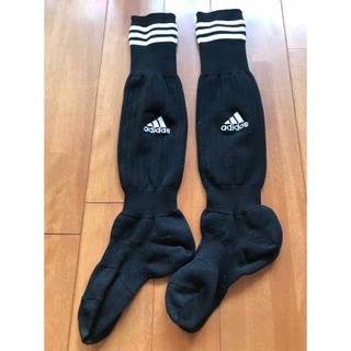 アディダス(adidas)のアディダス adidas サッカーソックス サイズ19〜21cm  黒色(その他)