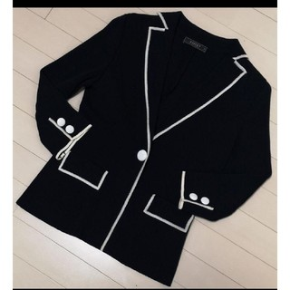 フォクシー(FOXEY)の☆美品 FOXEY 上品なニットジャケット 40(テーラードジャケット)