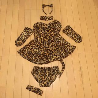 ハロウィン コスプレ 女豹 レオパード柄 セクシー(衣装一式)
