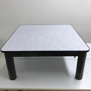 テーブル 食卓 机 作業台 ユニット変更でコタツも可能 足伸び縮み リバーシブル