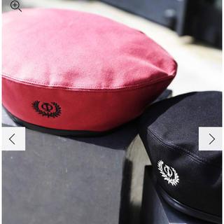 パメオポーズ(PAMEO POSE)のタグ付き新品💖 <5周年記念>Canvas roots icon beret(ハンチング/ベレー帽)