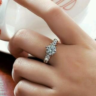 ☞【13号】★AAA級Czダイヤ銀925(リング(指輪))