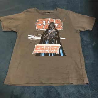 ジーユー(GU)のGU STARWARS Tシャツ 130cm グレー 灰色(Tシャツ/カットソー)