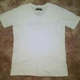 ウノピゥウノウグァーレトレ(1piu1uguale3)の✴1PIU1UGUALE3 RELAX✴刺繍ロゴ Vネック Tシャツ〈XXL〉✴(Tシャツ/カットソー(半袖/袖なし))