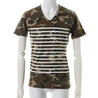 エイケイエム(AKM)の定価19440円 AKM カモフラボーダーTシャツ カットソーwjk(シャツ)