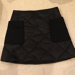 モンクレール(MONCLER)のモンクレール ダウン素材 スカート MONCLER 黒(ミニスカート)