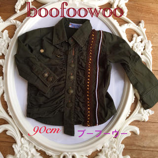 ブーフーウー(BOOFOOWOO)のブーフーウー✴︎カーキ シャツ 90(ブラウス)