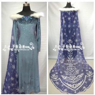 【大人用】アナと雪の女王 家族の思い出 エルサ コスチューム コスプレ dハロ(衣装一式)