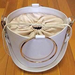 シマムラ(しまむら)のバケツ型 ショルダーバッグ/ハンドバッグ/ピンク色(ハンドバッグ)
