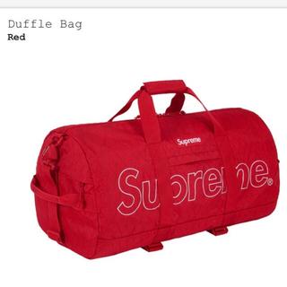 シュプリーム(Supreme)のsupreme   duffle bag red(ボストンバッグ)