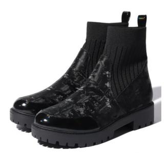デシグアル(DESIGUAL)の新品 定価17,900円 デシグアル  刺繍ブーツ デニム 23センチ 大特価(ブーツ)