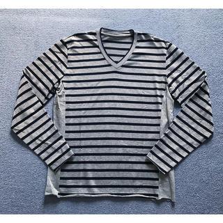 ウノピゥウノウグァーレトレ(1piu1uguale3)の人気新品2.2万 1piu1uguale3 3D グレー 7 akm junha(Tシャツ/カットソー(七分/長袖))