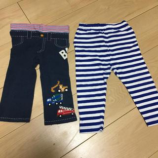 ダブルビー(DOUBLE.B)の花恋様専用 ミキハウス  スパッツパンツ 100 ユニクロレギンス90 セット(パンツ/スパッツ)