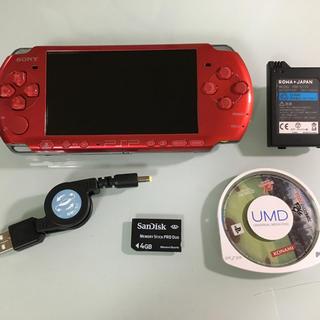プレイステーションポータブル(PlayStation Portable)のPSP-3000 ラディアントレッド(携帯用ゲーム本体)