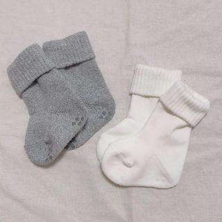 ムジルシリョウヒン(MUJI (無印良品))の未使用 無印良品*ベビー厚手ソックス 2枚セット(靴下/タイツ)