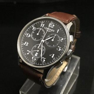 ロンジン(LONGINES)のロンジンのメンズ クオーツ式クロノグラフ    限定 クラシック パイロット(腕時計(アナログ))