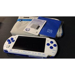プレイステーションポータブル(PlayStation Portable)のPSP3000 ブルーホワイト 動作品(携帯用ゲーム本体)