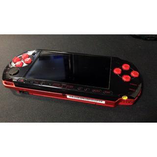プレイステーションポータブル(PlayStation Portable)のPSP3000 ブラックレッド レアカラー(携帯用ゲーム本体)