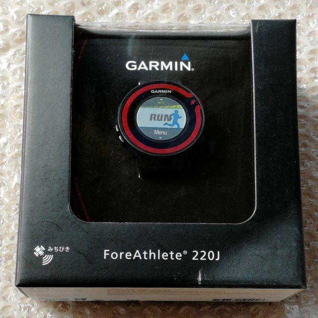 edfd406796 GARMIN(ガーミン)のGARMIN ガーミン ForeAthlete 220J ブラック/レッド スポーツ/アウトドアの