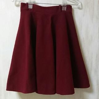 ニーナ(Nina)のワインレッド スカート(ひざ丈スカート)