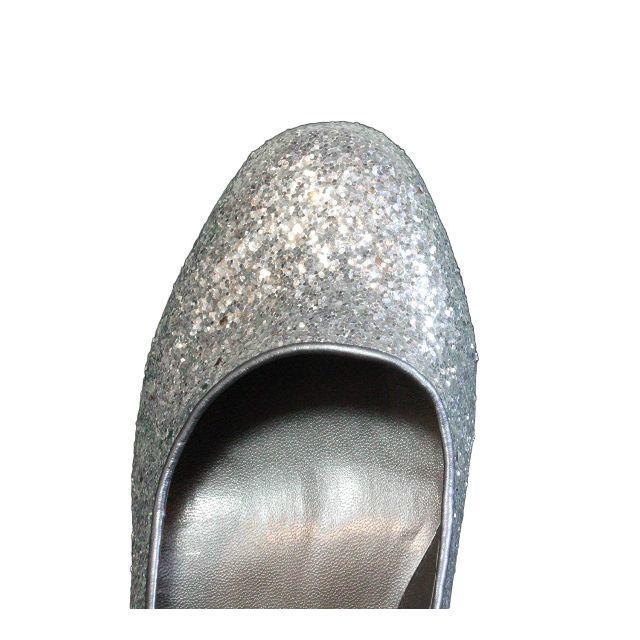 パーティー 披露宴に! バック リボン ラメ パンプス 25.5cm レディースの靴/シューズ(ハイヒール/パンプス)の商品写真