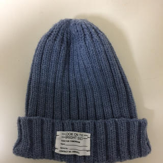 ジーユー(GU)のニット帽  ブルー(ニット帽/ビーニー)