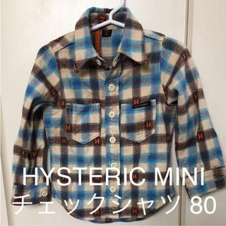 ヒステリックミニ(HYSTERIC MINI)のHYSTERIC MINI◇長袖チェックシャツ 80(シャツ/カットソー)