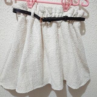 シマムラ(しまむら)のしまむら ベルト付き ツイード スカート♥️Lサイズ ハニーズ(ミニスカート)