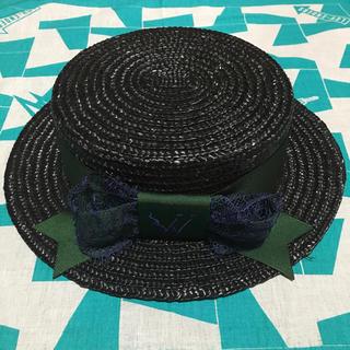 パメオポーズ(PAMEO POSE)の✯PAMEO POSE✯BLACK WALTS HAT(麦わら帽子/ストローハット)